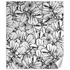 White Leaves Canvas 20  X 24