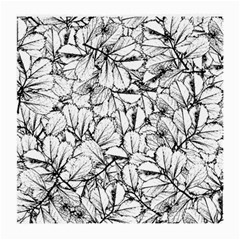 White Leaves Medium Glasses Cloth