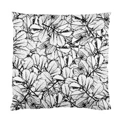 White Leaves Standard Cushion Case (one Side)