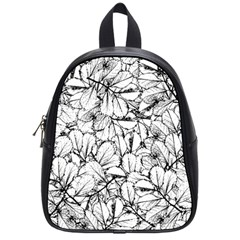 White Leaves School Bag (small)