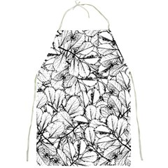 White Leaves Full Print Aprons