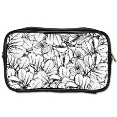 White Leaves Toiletries Bags