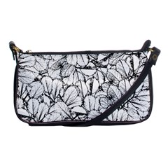 White Leaves Shoulder Clutch Bags