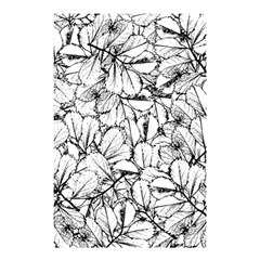 White Leaves Shower Curtain 48  X 72  (small)