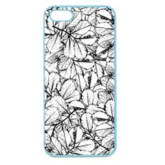 White Leaves Apple Seamless Iphone 5 Case (color)