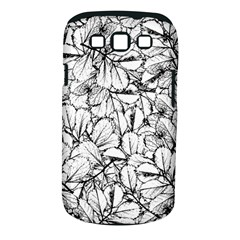 White Leaves Samsung Galaxy S Iii Classic Hardshell Case (pc+silicone)
