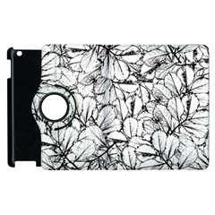 White Leaves Apple Ipad 3/4 Flip 360 Case