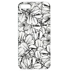 White Leaves Apple Iphone 5 Hardshell Case With Stand