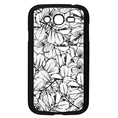 White Leaves Samsung Galaxy Grand Duos I9082 Case (black)