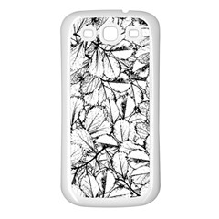 White Leaves Samsung Galaxy S3 Back Case (white)
