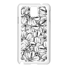 White Leaves Samsung Galaxy Note 3 N9005 Case (white)