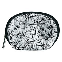White Leaves Accessory Pouches (medium)