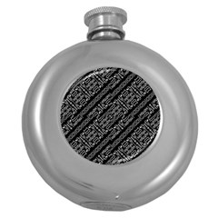 Tribal Stripes Pattern Round Hip Flask (5 Oz)