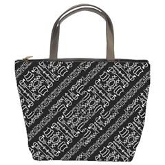 Tribal Stripes Pattern Bucket Bags