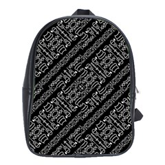 Tribal Stripes Pattern School Bag (large)