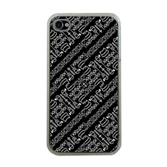 Tribal Stripes Pattern Apple Iphone 4 Case (clear)