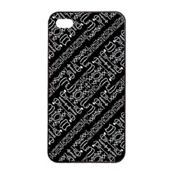 Tribal Stripes Pattern Apple Iphone 4/4s Seamless Case (black)