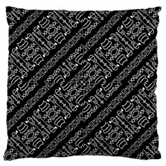 Tribal Stripes Pattern Large Cushion Case (one Side)