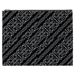 Tribal Stripes Pattern Cosmetic Bag (xxxl)