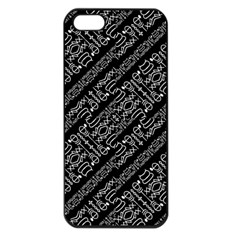 Tribal Stripes Pattern Apple Iphone 5 Seamless Case (black)
