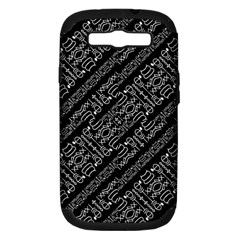 Tribal Stripes Pattern Samsung Galaxy S Iii Hardshell Case (pc+silicone)