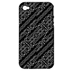 Tribal Stripes Pattern Apple Iphone 4/4s Hardshell Case (pc+silicone)