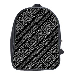 Tribal Stripes Pattern School Bag (xl)