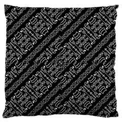 Tribal Stripes Pattern Large Flano Cushion Case (two Sides)