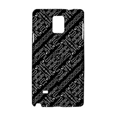 Tribal Stripes Pattern Samsung Galaxy Note 4 Hardshell Case