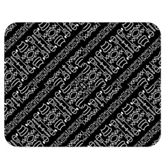 Tribal Stripes Pattern Double Sided Flano Blanket (medium)