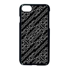 Tribal Stripes Pattern Apple Iphone 7 Seamless Case (black)