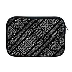 Tribal Stripes Pattern Apple Macbook Pro 17  Zipper Case