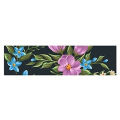 Beautiful Floral Pattern Satin Scarf (oblong)