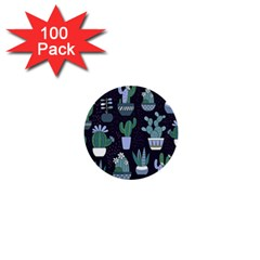 Cactus Pattern 1  Mini Buttons (100 Pack)