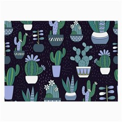 Cactus Pattern Large Glasses Cloth (2 Side)