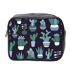 Cactus Pattern Mini Toiletries Bag 2 Side