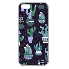 Cactus Pattern Apple Seamless Iphone 5 Case (clear)