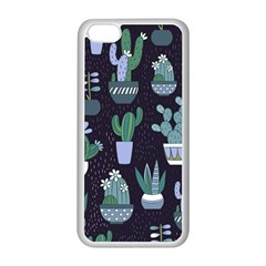 Cactus Pattern Apple Iphone 5c Seamless Case (white)