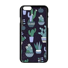 Cactus Pattern Apple Iphone 6/6s Black Enamel Case