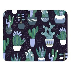 Cactus Pattern Double Sided Flano Blanket (large)