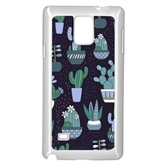 Cactus Pattern Samsung Galaxy Note 4 Case (white)