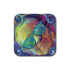 Holi Rubber Square Coaster (4 Pack)