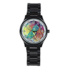 Holi Stainless Steel Round Watch