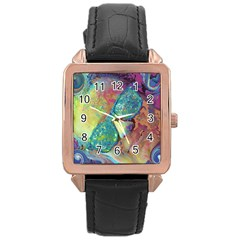 Holi Rose Gold Leather Watch