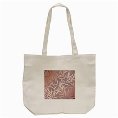 Rose Gold, Asian,leaf,pattern,bamboo Trees, Beauty, Pink,metallic,feminine,elegant,chic,modern,wedding Tote Bag (cream)
