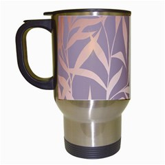 Rose Gold, Asian,leaf,pattern,bamboo Trees, Beauty, Pink,metallic,feminine,elegant,chic,modern,wedding Travel Mugs (white)