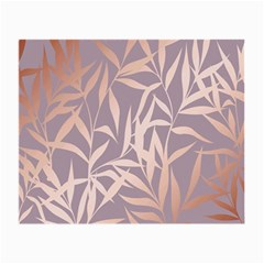 Rose Gold, Asian,leaf,pattern,bamboo Trees, Beauty, Pink,metallic,feminine,elegant,chic,modern,wedding Small Glasses Cloth