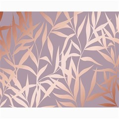 Rose Gold, Asian,leaf,pattern,bamboo Trees, Beauty, Pink,metallic,feminine,elegant,chic,modern,wedding Canvas 16  X 20