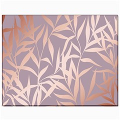 Rose Gold, Asian,leaf,pattern,bamboo Trees, Beauty, Pink,metallic,feminine,elegant,chic,modern,wedding Canvas 11  X 14