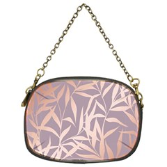 Rose Gold, Asian,leaf,pattern,bamboo Trees, Beauty, Pink,metallic,feminine,elegant,chic,modern,wedding Chain Purses (one Side)